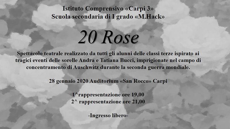 20 Rose - Spettacolo teatrale sulla storia delle sorelle Bucci, realizzato dagli alunni della scuola media Margherita Hack