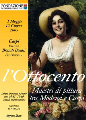 L'Ottocento Maestri di pittura tra Modena e Carpi - copertina del libro di Fondazione Cassa di Risparmio di Carpi