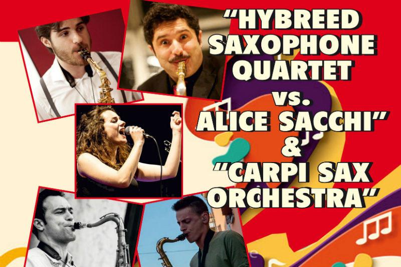 Inaugurazione Anno Accademico Università - Hybreed Saxophone Quartet vs Alice Sacchi & Carpi Sax Orchestra